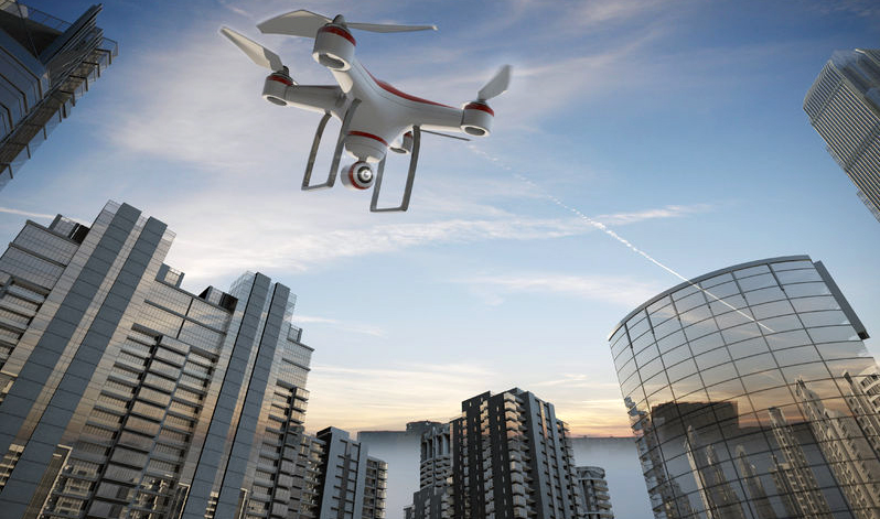 40925821 - drone flying for aerial photography or video shooting